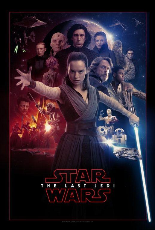 Star Wars: The Last Jedi - Poster Fanart by AUGEN² : StarWars