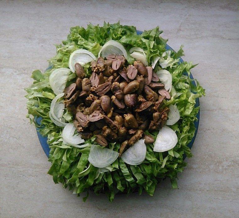 рецепты салатов из куриных сердечек с фотографиями решением