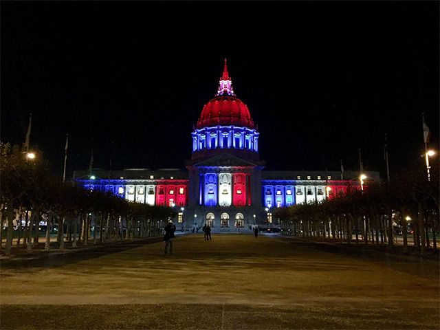 Blingee paris red ,white and blue | In Solidarity With Paris, SF City Hall Lit Up Blue, White and Red ...