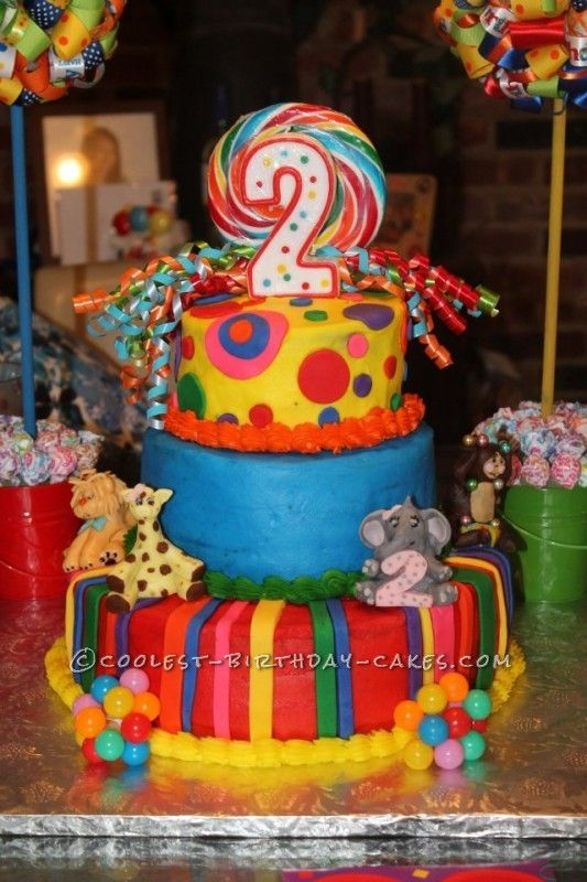 Coolest Crazy Circus Cake Pinterest Birthday Cakes Birthdays