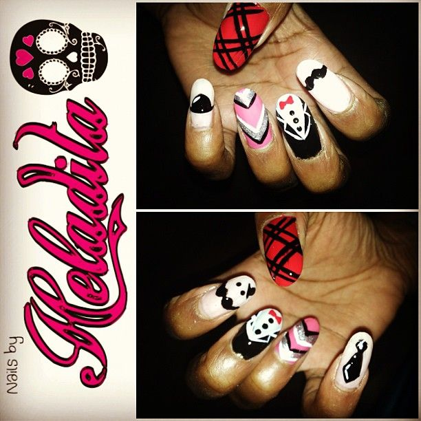 Nails By Heladita © - Movember Nails