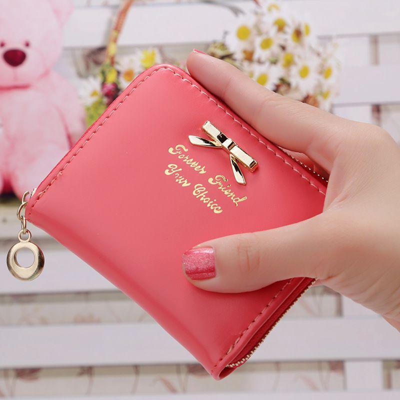 615b28bf52b 2017 Korean Cute Cat Anime Leather Trifold Slim Mini Wallet Women ...