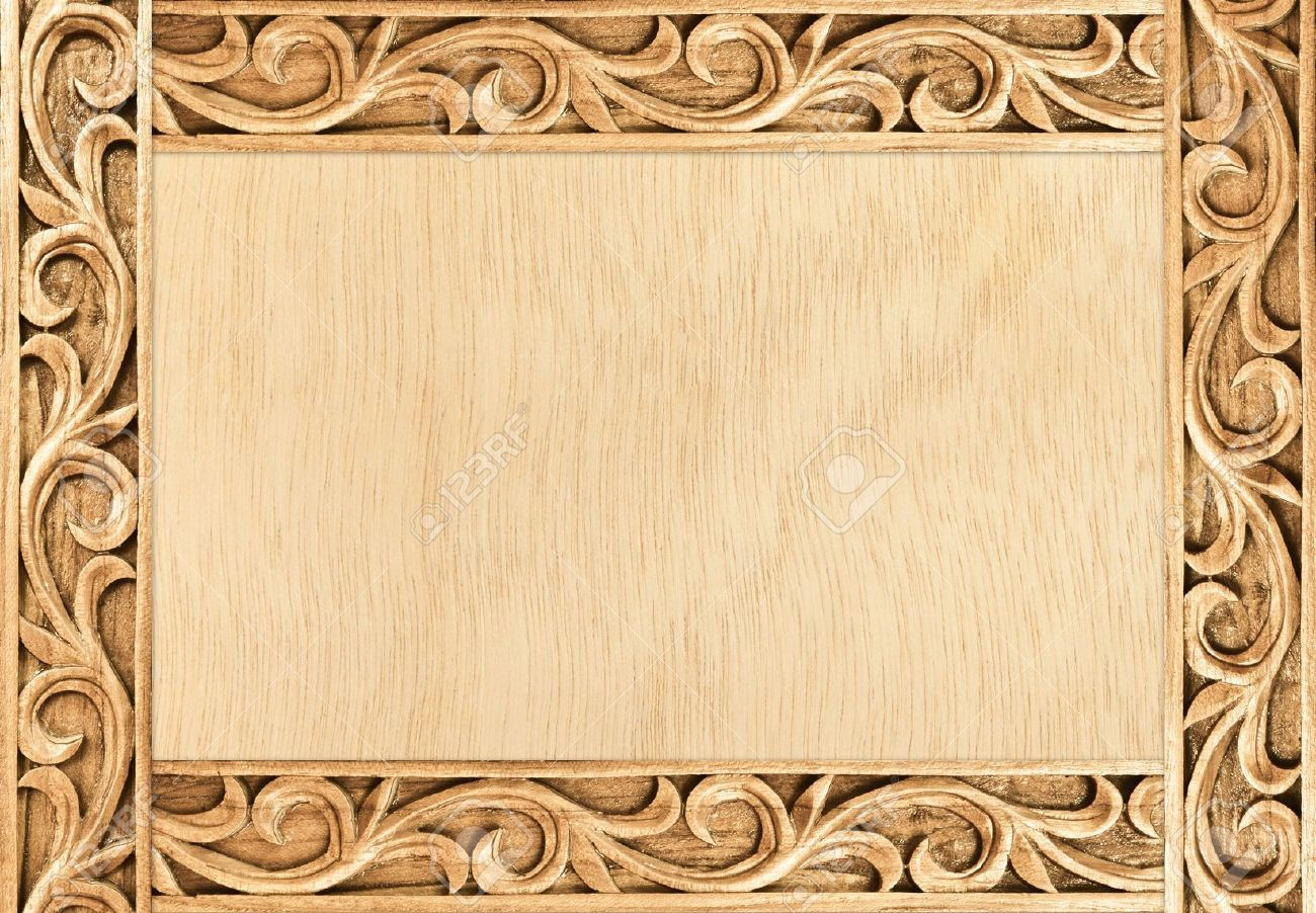 Pattern of flower carved frame on wood background stock photo pattern of flower carved frame on wood background stock photo picture and royalty free image jeuxipadfo Image collections