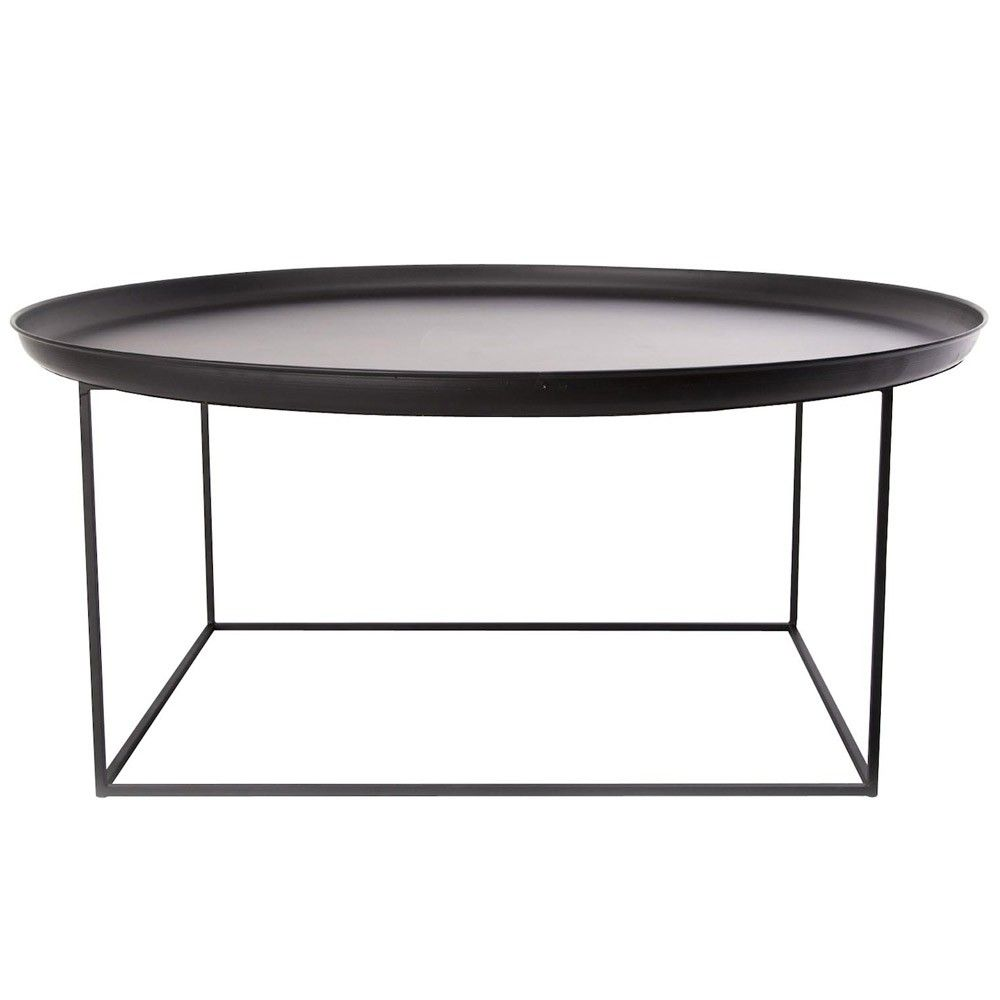 Norr11 Duke Coffee Table L Large Round Spun Metal Coffee Table
