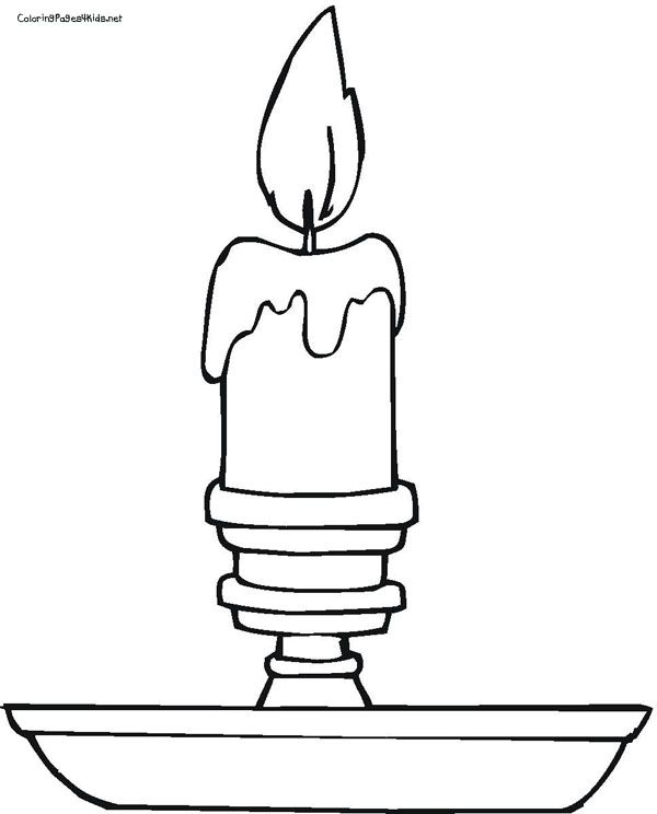 candlestick coloring page - Candle Coloring Page