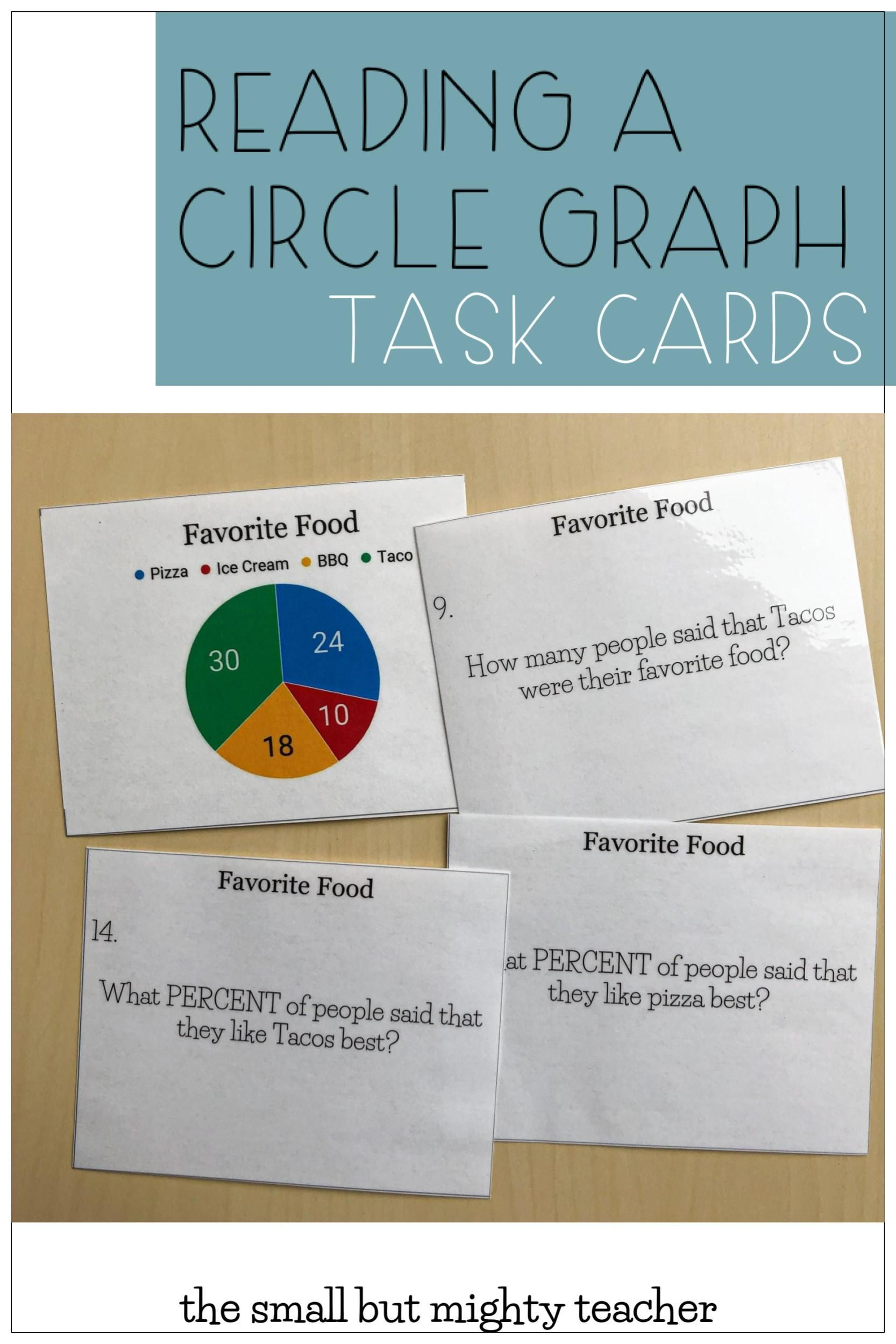 Reading Circle Graphs Worksheets   Printable Worksheets and Activities for  Teachers [ 2500 x 1666 Pixel ]