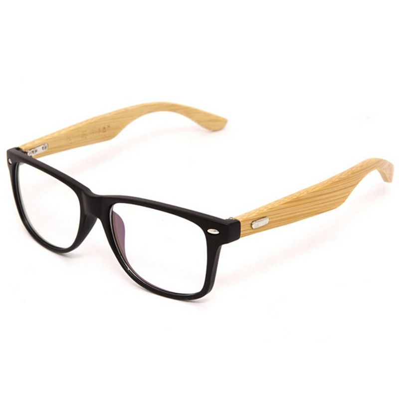 Bamboo Glasses Frame Wooden Eyewear Frames Clear Lens Spectacle ...