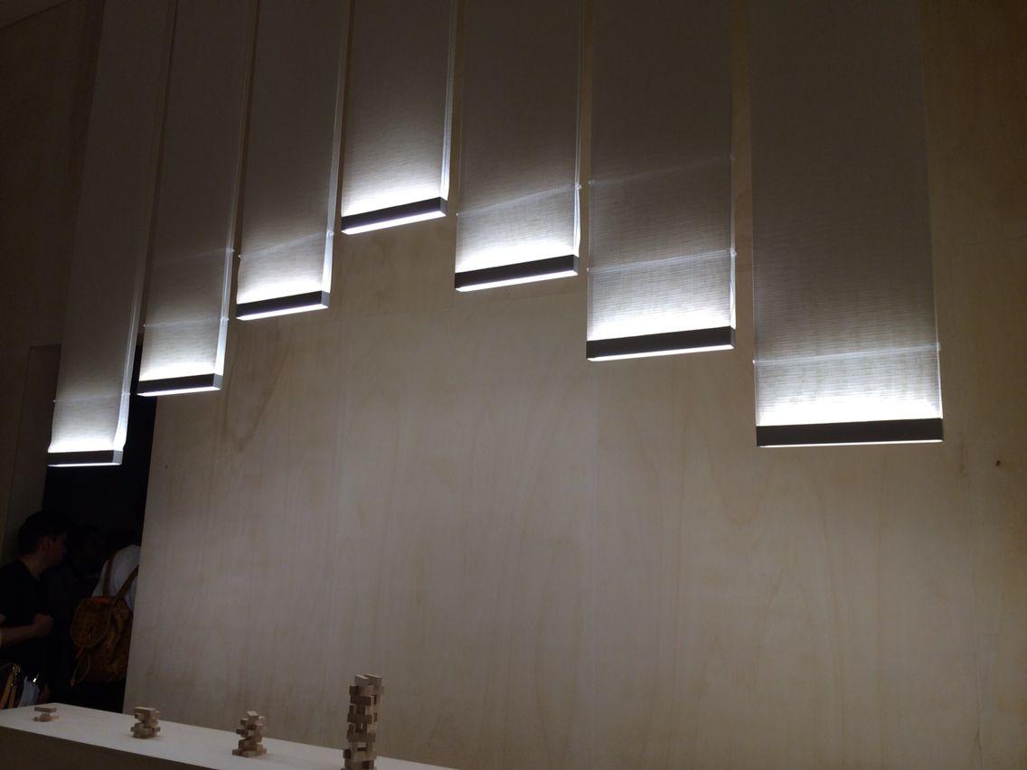 best vibia images on pinterest  hanging lamps lighting design  - curtain by arik levy for vibia lighting  euroluce