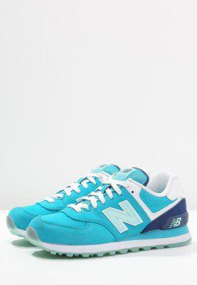 New Balance Wl574 Tenisowki I Trampki Turkis Blau Weiss Zalando Pl New Balance Sneaker Sneakers Shoes
