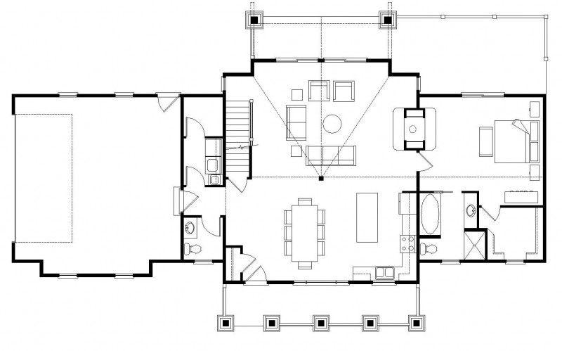 Simple Open Floor House Plans Ii Log Homes Cabins