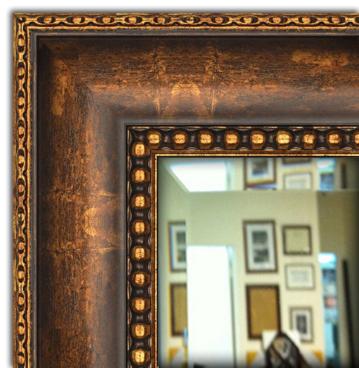 Wall Framed Mirror Bathroom Vanity Bronze Gold Finished Aricgallery Tuscan