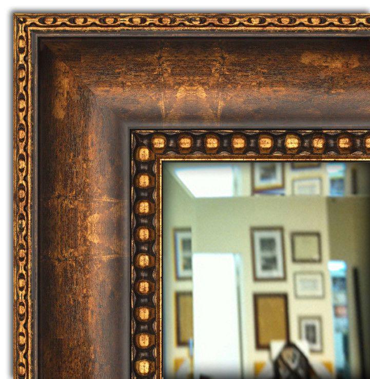 Wall Framed Mirror Bathroom Vanity Mirror Bronze Gold Finished