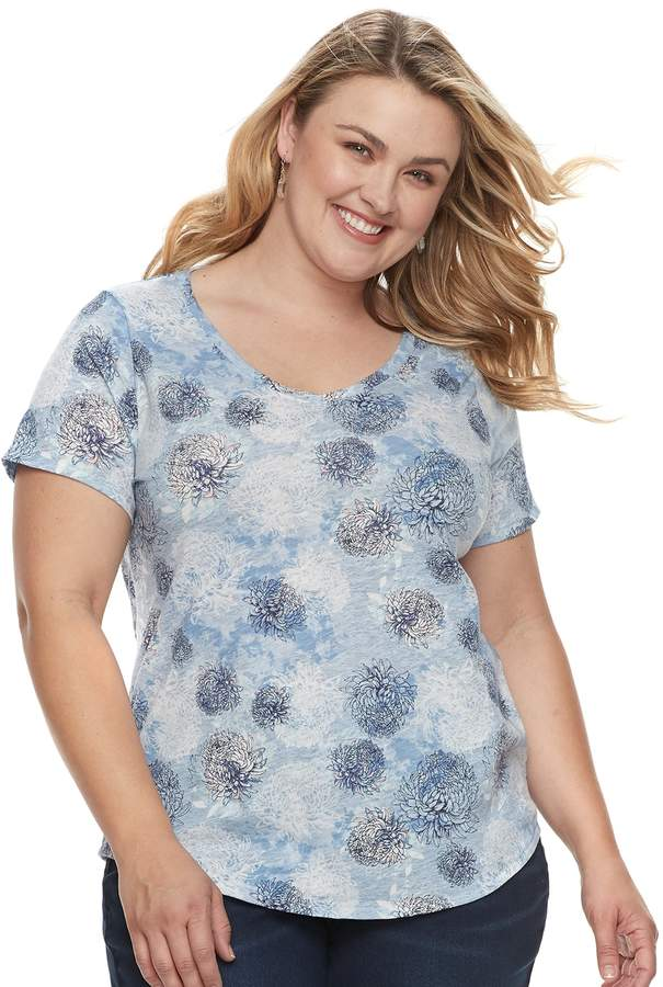 28a13f3625e Dockers Sonoma Goods For Life Plus Size SONOMA Goods for Life Essential V-Neck  Tee