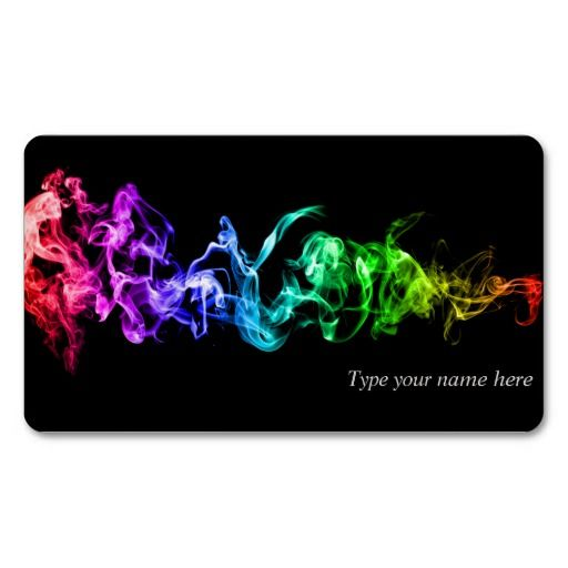 Colorful Abstract Smoke - A Rainbow in the Dark #BusinessCard   # #smoke…