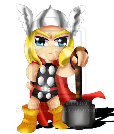 Thor Chibi By Exorodesignsdeviantartcom On At Deviantart Chibi