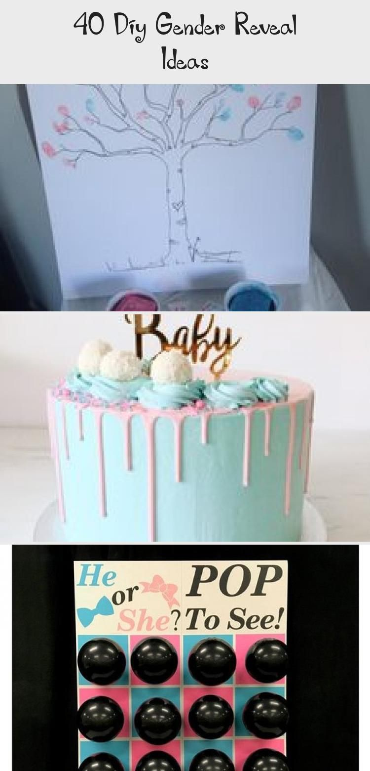40 Diy Gender Reveal Ideas - Cake #genderrevealideasforpartydiy
