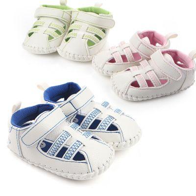 wholesale baby prewalker shoes white pu breathable sandal