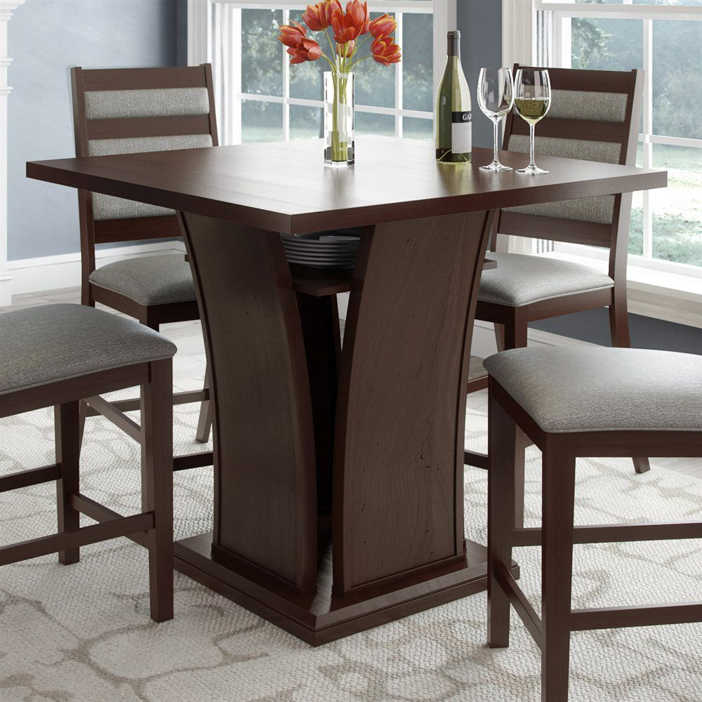 Wayfair Dining Room Chairs Curved Dining Bench Kitchen: Shop CorLiving DWP-390-T Bistro Counter Height Dining