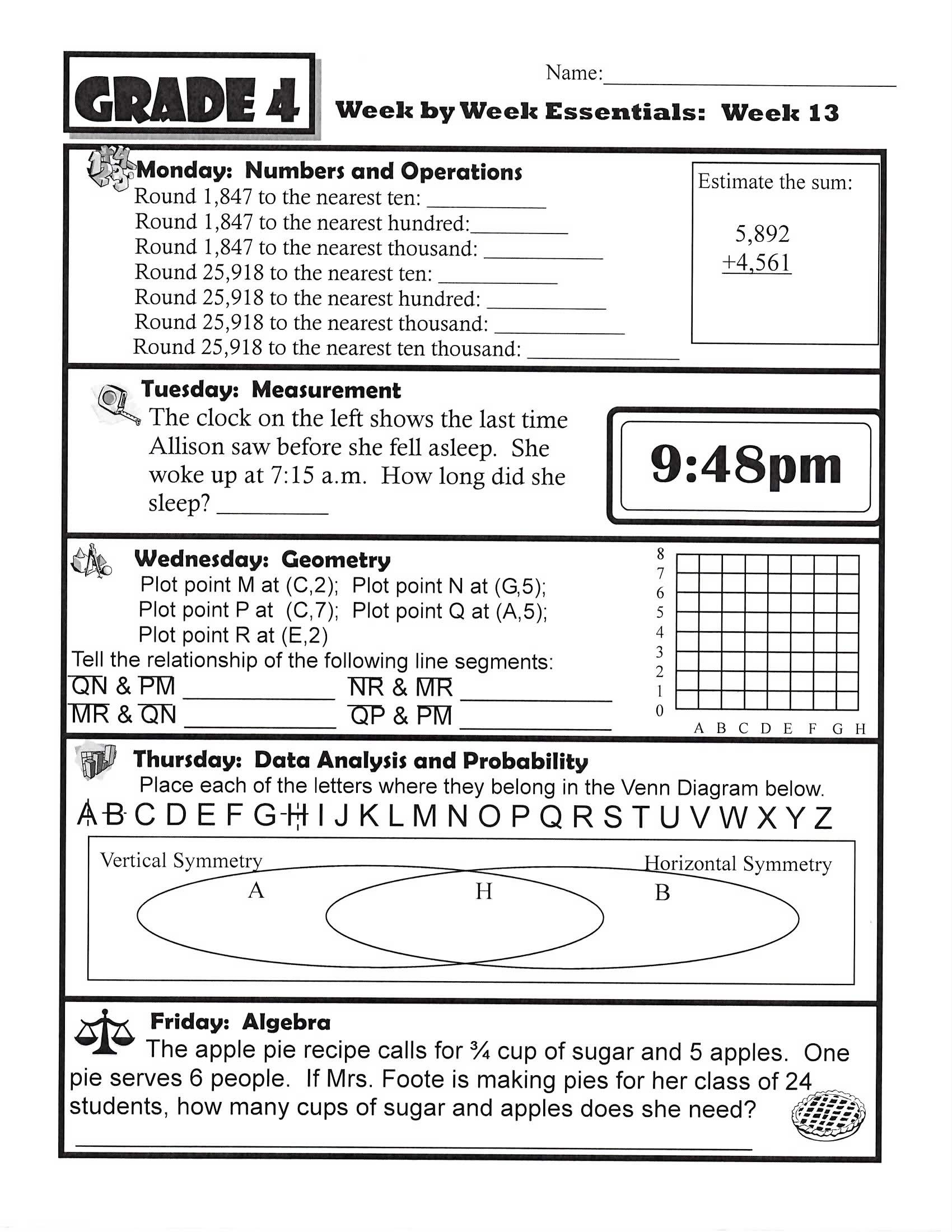 Homework Sheets to Print | Kids math worksheets, Math pages ...