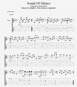 sound of silence fingerstyle arrangement tab sound of silence tab in 2019 guitar chords. Black Bedroom Furniture Sets. Home Design Ideas
