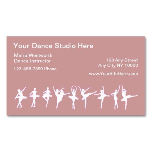 Ballet Dancing Business Cards Zazzle Com Business Card Inspiration Teacher Business Cards Dance