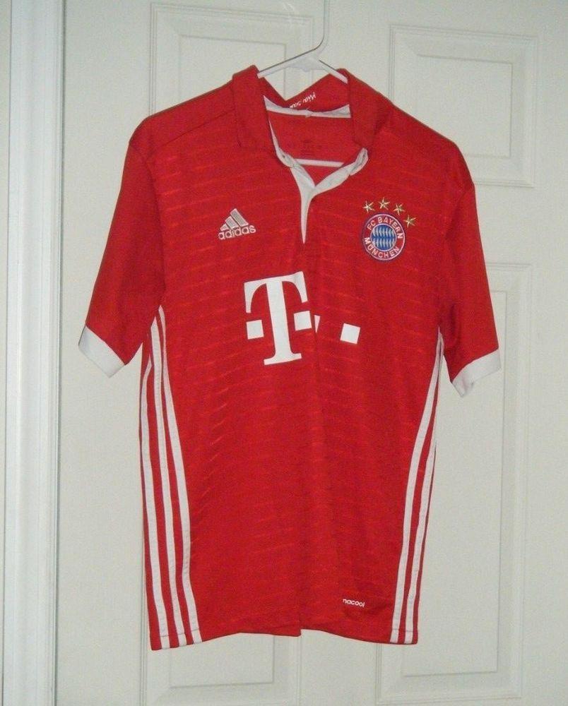 077194de2ee Bayern Munich FC Adidas 2016/17 Home Jersey - Red/White Men's Size Sm - Med  Used #adidas #BayernMunich
