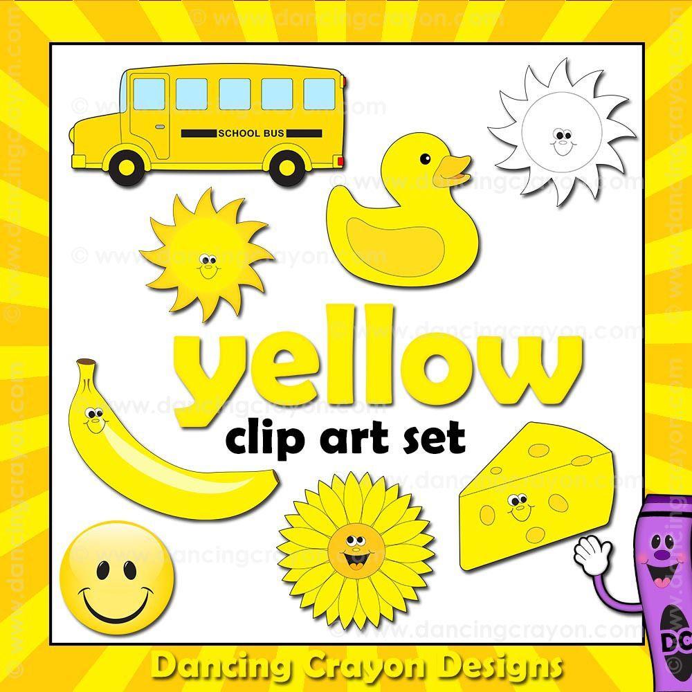 Yellow Teaching Colors Clip Art Color Activities [ 1000 x 1000 Pixel ]