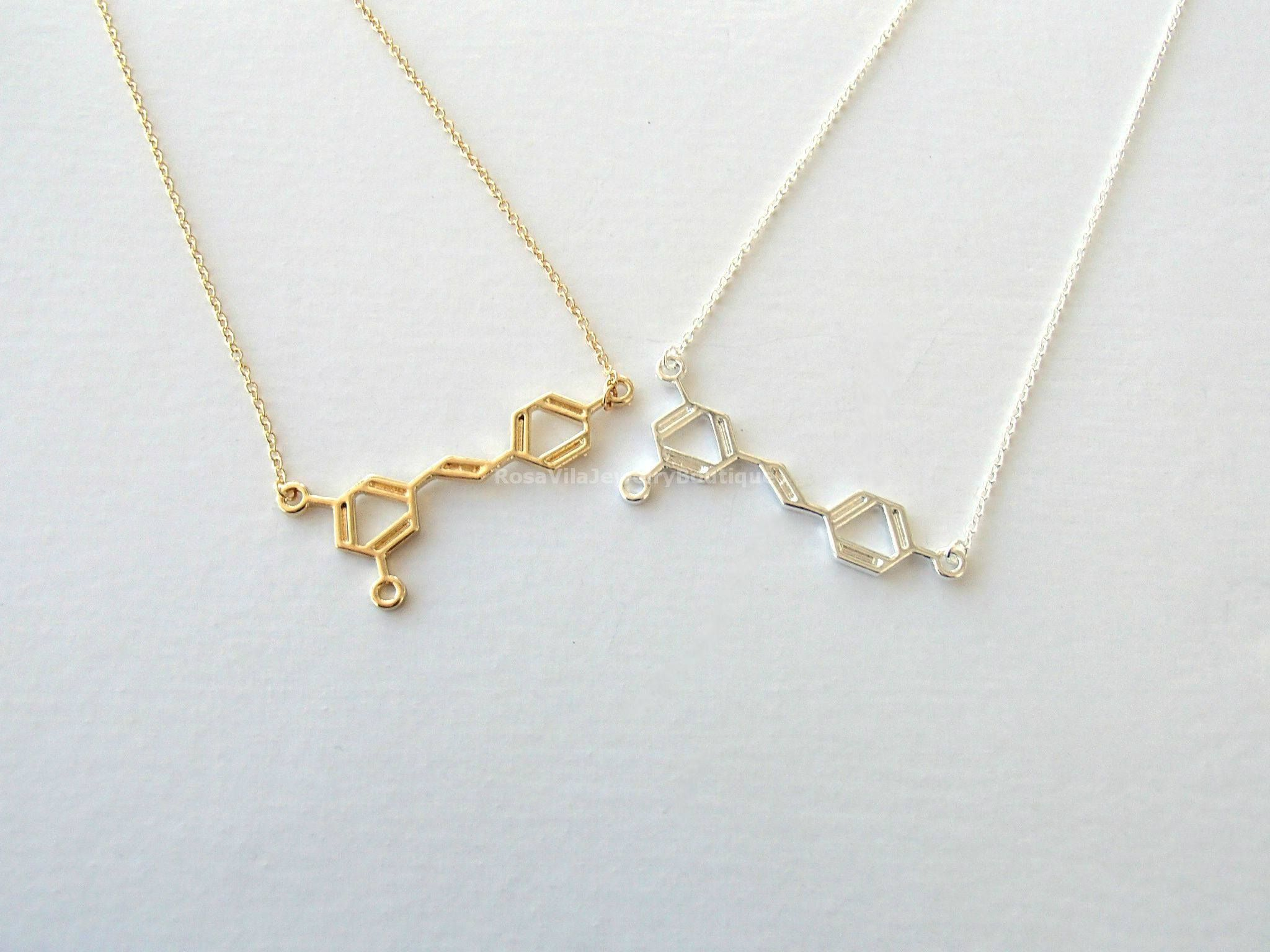v jewelry necklace molecule itm pendant biology for dna s is loading science image women men