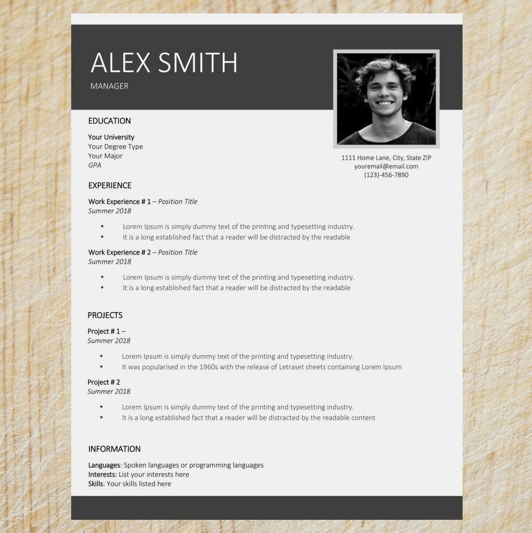 Clean Resume Template   Word Resume Template   CV Template   Cover ...