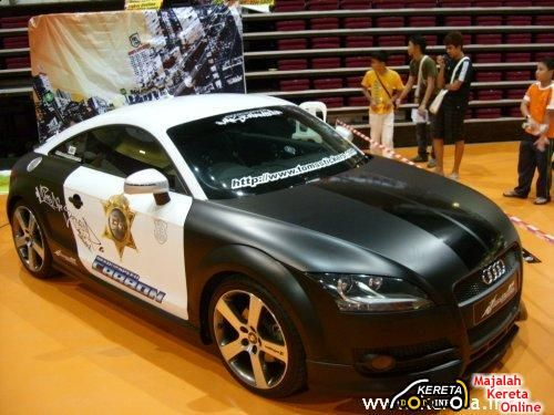 WATCH OUT AUDI TT POLICE CAR NEED FOR SPEED CUSTOM CAR STICKER - Custom car stickers