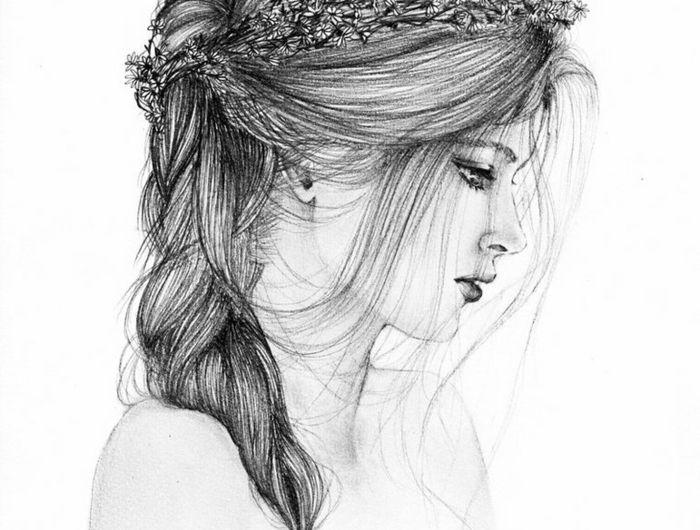 1001 images pour le dessin fille parfait des id es pour d velopper son cr ativit dessins - Dessin de fille belle ...