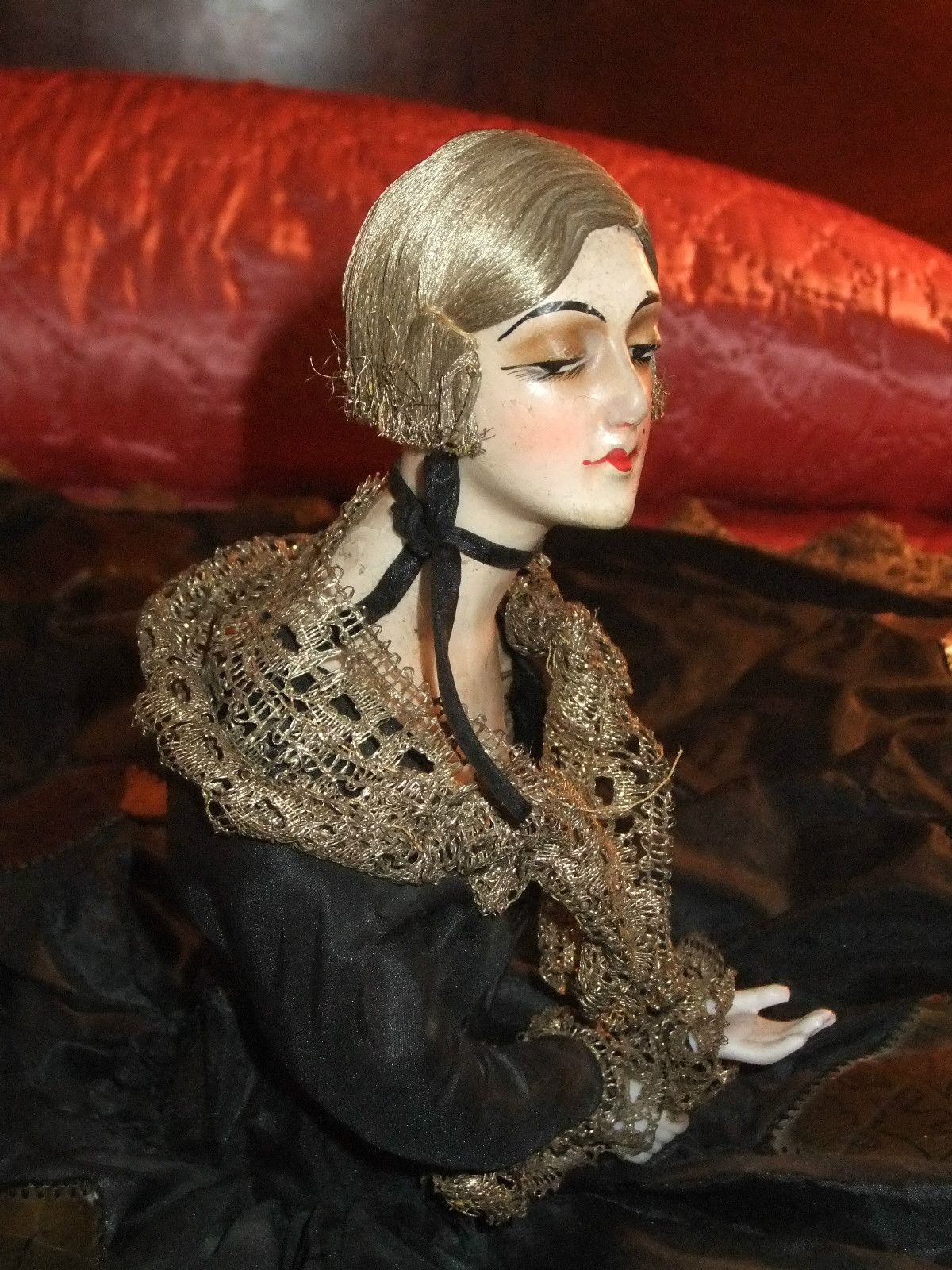 Awesome French boudoir doll--possibly Gerb of Paris.