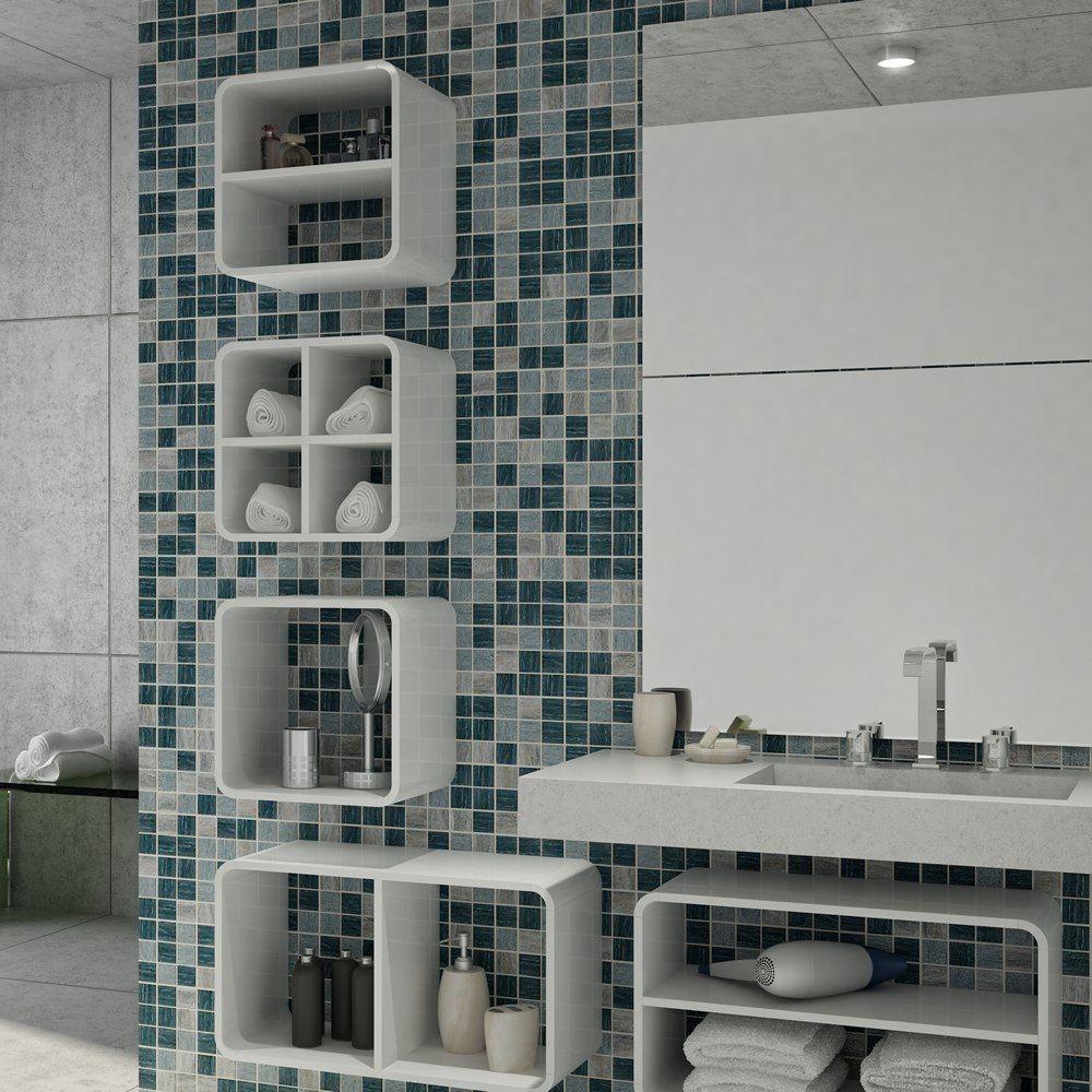 Casa Nova Inspiração para louça e decoração dos banheiros Adoro esse deta -> Nicho Para Shampoo Banheiro