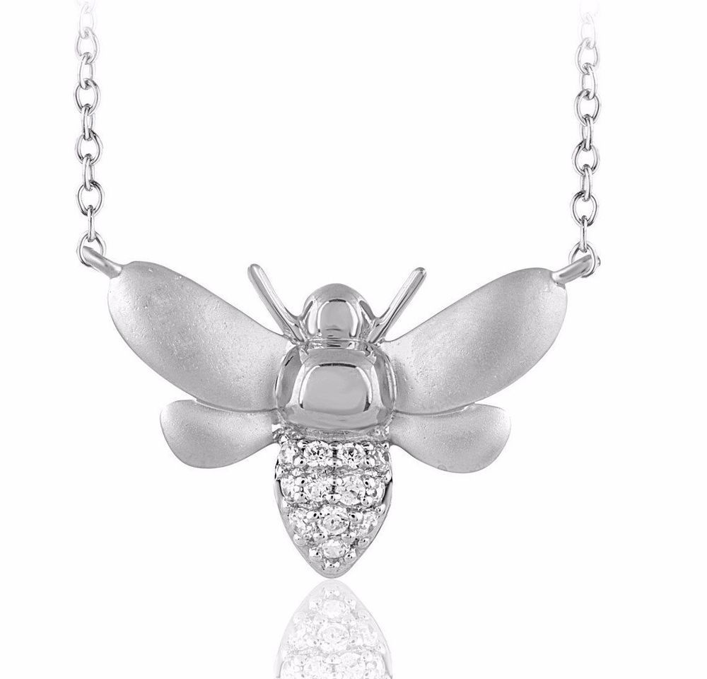 32836e5ca9bab Details about Unique Women Honey Bumblebee Bee Pendant Solid 14k ...