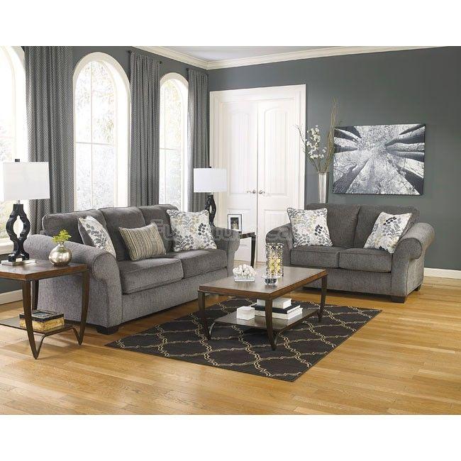 Makonnen Charcoal Living Room Set Living Room Sets Charcoal Living Rooms Living Room Collections