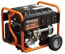 Gp7500e Portable Generator The Generac Ohv Engine With Splash Lubrication Provides A Long Engi Best Portable Generator Portable Generator Gas Powered Generator
