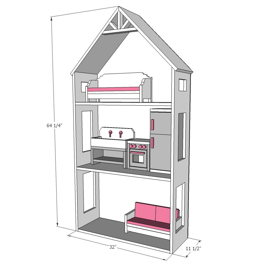 American girl dollhouse for small spaces doll house
