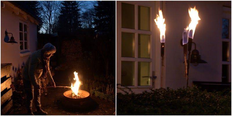 DUNHAMMER SOM FAKLER - DIY garden-light with cattails