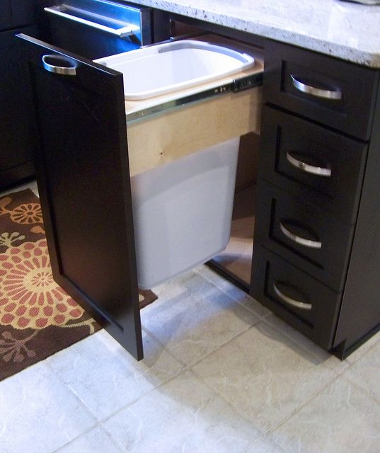 Trash Cans For The Kitchen Cabinet