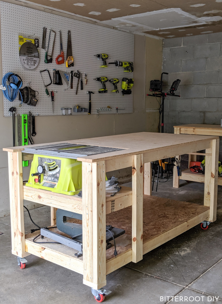 Mobile Workbench With Table Saw Mobile Workbench Diy Table Saw