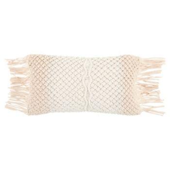Rizzy Home 11 X 21 Macrame Poly Filled Pillow Pillows Throw Pillows Decorative Pillows
