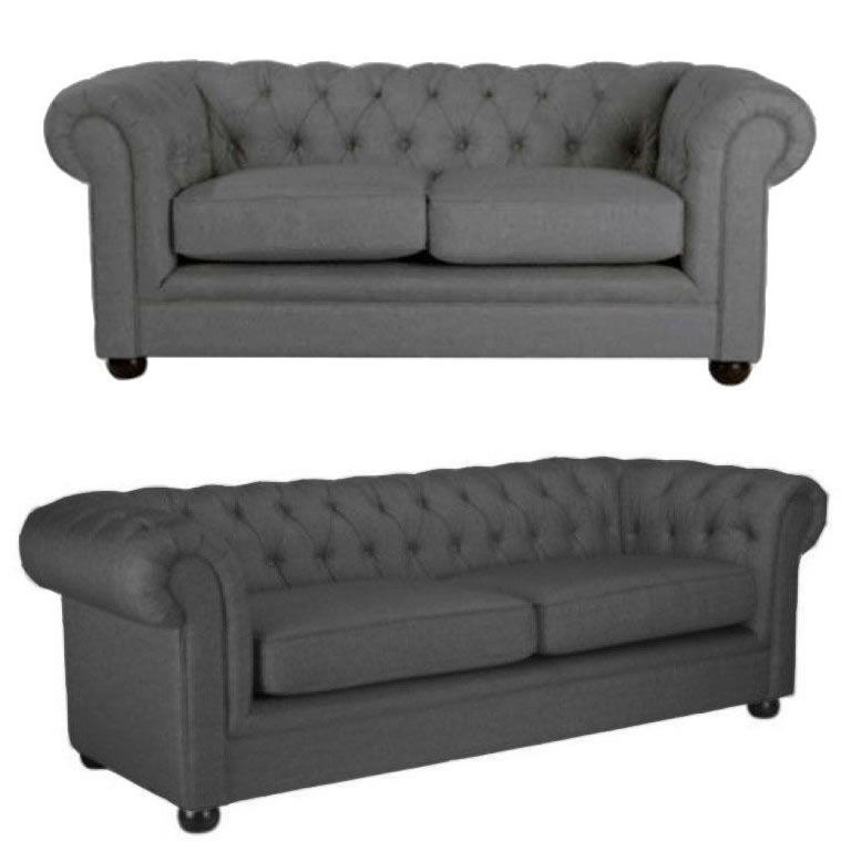 Grey Fabric Chesterfield Sofa Set Sofas Direct Stylish Sofa Bed Sofa Fabric Chesterfield Sofa