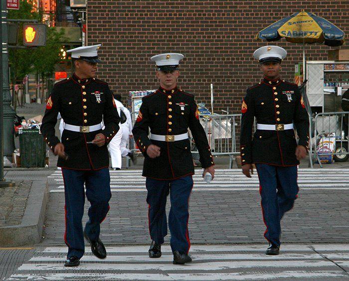 Men in uniform!