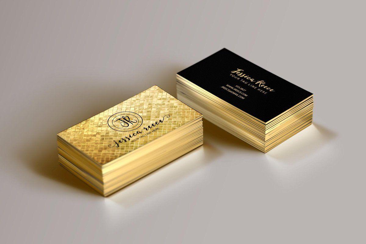 Gold Foil Business Card Template Gold Foil Business Cards Foil Business Cards Foil Stamped Business Cards