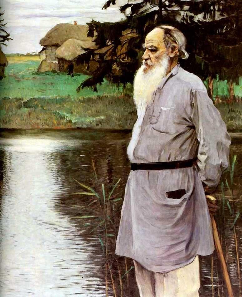 Leo Tolstoy By Mikhail Nesterov 1906 Wikipedia Russian Art Portrait Leo Tolstoy