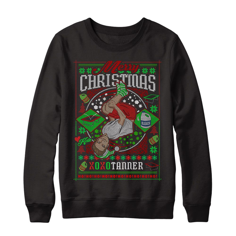 Tanner Braungardt's Holiday Sweater Merry Christmas guys, grab my ...