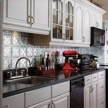Tin Backsplashes  Backsplash Design Ideas  Kitchen Backsplash Delectable Tin Backsplash For Kitchen Design Inspiration