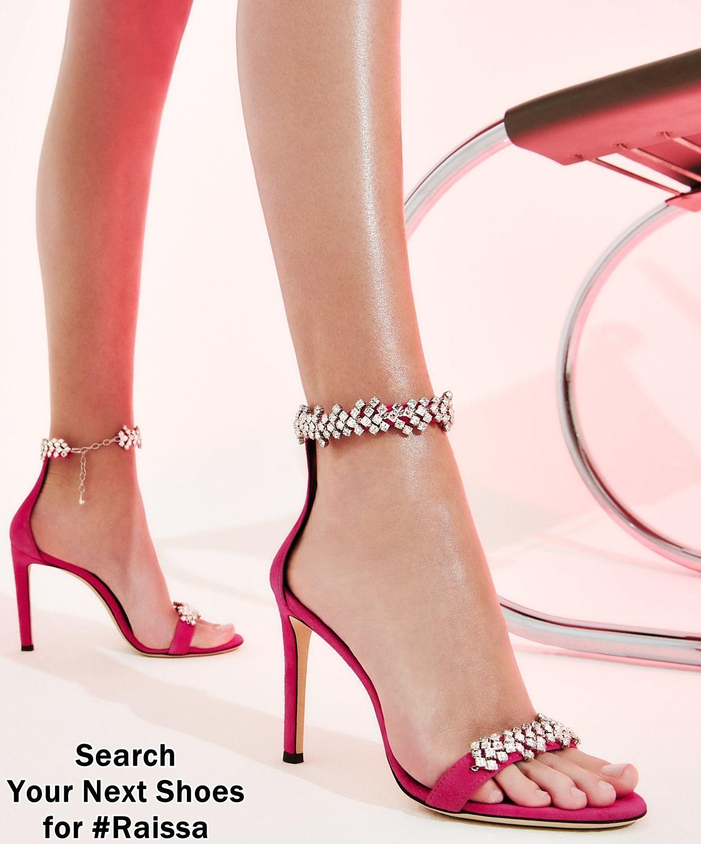Pink Women S Crystal Embellished Shoes Funky Heels Pink High Heels Heels [ 1671 x 1388 Pixel ]