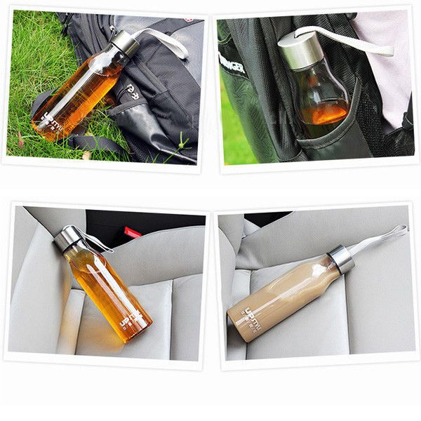 Transparent Tea Water Bottles Coffee Cup Hiking Picnic Sports Cycling Bottle