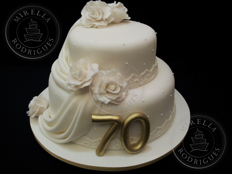 Bolo De Aniversario De 70 Anos Bolo De 70 Anos Bolo De